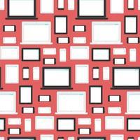 nahtlose Muster für moderne Technik und Geräte