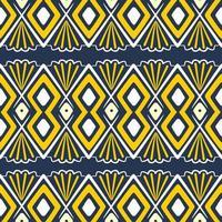 handgezeichnetes ethnisches nahtloses Muster. Vektorillustration aztekischer, afrikanischer, Stammesmotivhintergrund.
