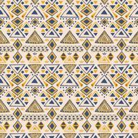 Dreiecksmuster. ethnisch geometrisch nahtlos handgemacht.