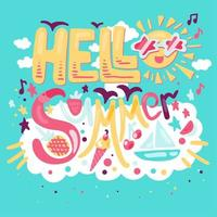 Hallo tropischer Sommer vektor