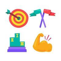 Preis- und Gewinnersymbol in Sport, Showbusiness und Leben vektor