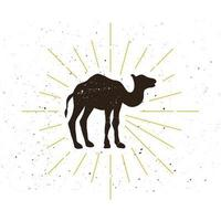 Retro Kamel Silhouette Logo vektor