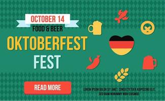 snygg webb oktoberfest banner vektor