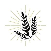 retro växt silhuett logotyp vektor