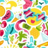 nahtloses Muster des tropischen Sommers des Vektors