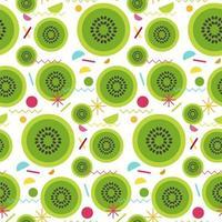 süßes nahtloses Muster aus leckerer Kiwi vektor