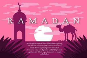 Ramadan Kareem Gruß vektor