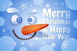 Frohe Weihnachten, frohes neues Jahr Grußkarte Vektor Vorlage