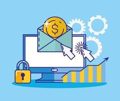 pengar, ekonomi och teknologikonceptdesign