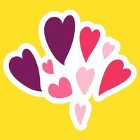 vektor tecknad romantisk kärlek tecken