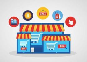 elektroniska enheter med online shoppingteknik