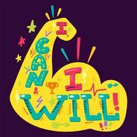 ich kann und ich werde vektor