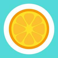citron tecknad klistermärke vektor