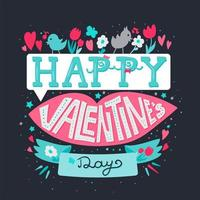 fröhlichen Valentinstag vektor