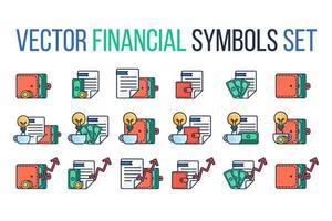 finansiella symboler vektor