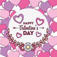 Alla hjärtans dag design med hjärtan mönster vektor