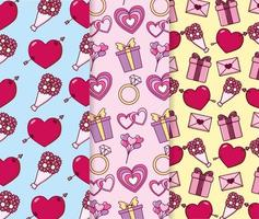 Valentinstag Muster Hintergrund vektor