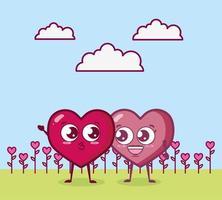 Valentinstag Design mit Herz Zeichen vektor