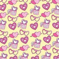 Alla hjärtans dag mönster bakgrund vektor