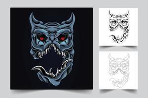 Horror Hund Kunstwerk Illustration vektor