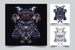 Samurai Krieg Kunstwerk Illustration vektor