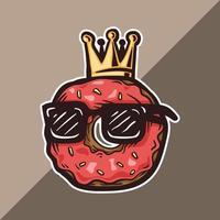 kung munk logotyp maskot bär glasögon