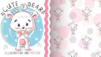isbjörn sömlösa mönster vektor