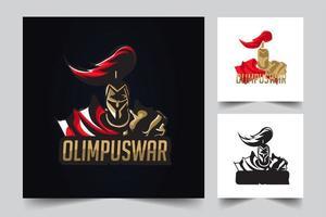 Olympus Krieg Kunstwerk vektor
