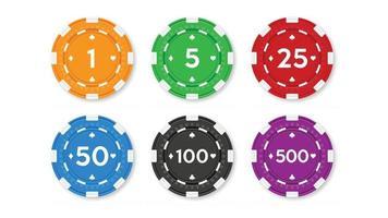 marker för poker och kasino.
