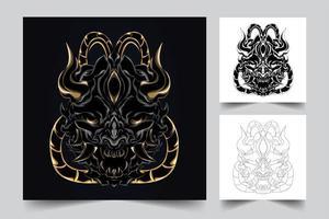 Satan Kunstwerk Illustration vektor
