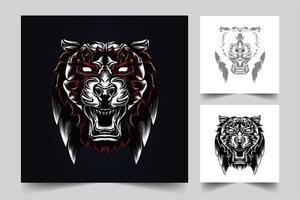 tiger konstverk illustration vektor