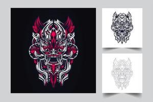 kultur indonesiska konstverk vektor