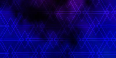 mörkrosa, blå vektormönster med linjer, trianglar. vektor