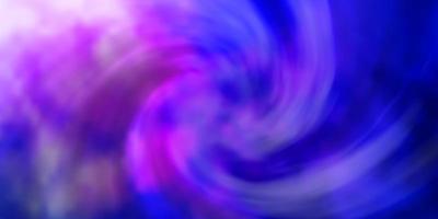 dunkelrosa, blauer Vektorhintergrund mit Cumulus. vektor