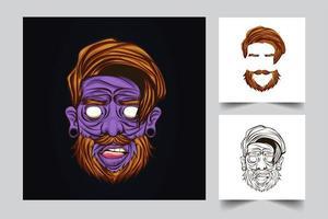 Zombie-Kunstwerkillustration