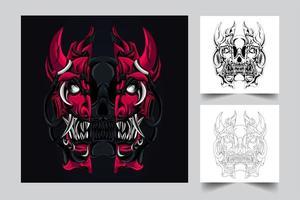 Horror Satan Kunstwerk Illustration vektor