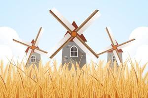 Windmühle Kunstwerk Illustration vektor