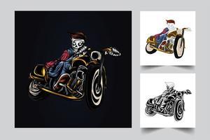 zombie rider konstverk illustration vektor