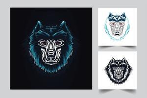 Wolf Kunstwerk Illustration vektor