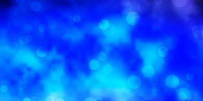 ljusrosa, blå vektorbakgrund med cirklar. vektor