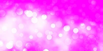 hellpurpurner, rosa Vektorhintergrund mit Kreisen.