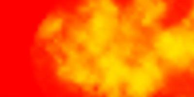 hellrosa, gelbe Vektorschablone mit Himmel, Wolken. vektor