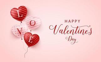 glad alla hjärtans dag banner, alla hjärtans dag bakgrund vektor