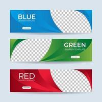Vektor abstraktes Design Banner Web-Vorlage. Sammlung von horizontalen Business-Werbebanner. Vektorillustration