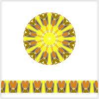 runde nahtlose Muster geometrische Textur vektor