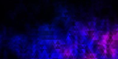 dunkelrosa, blauer Vektorhintergrund mit Linien, Dreiecken. vektor