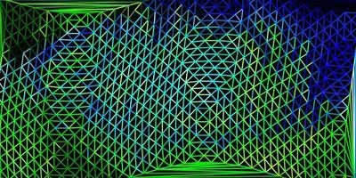 hellblaues, grünes Vektor-Poly-Dreieck-Layout.