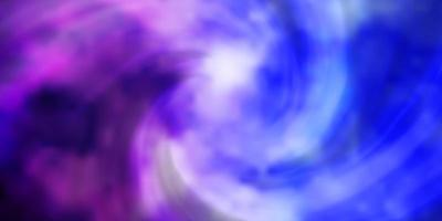 hellrosa, blaue Vektorbeschaffenheit mit bewölktem Himmel. vektor