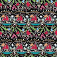 blommig geometrisk folkloreprydnad. stam etnisk vektor konsistens.