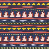 nahtloses Stammesmuster im afrikanischen Stil.